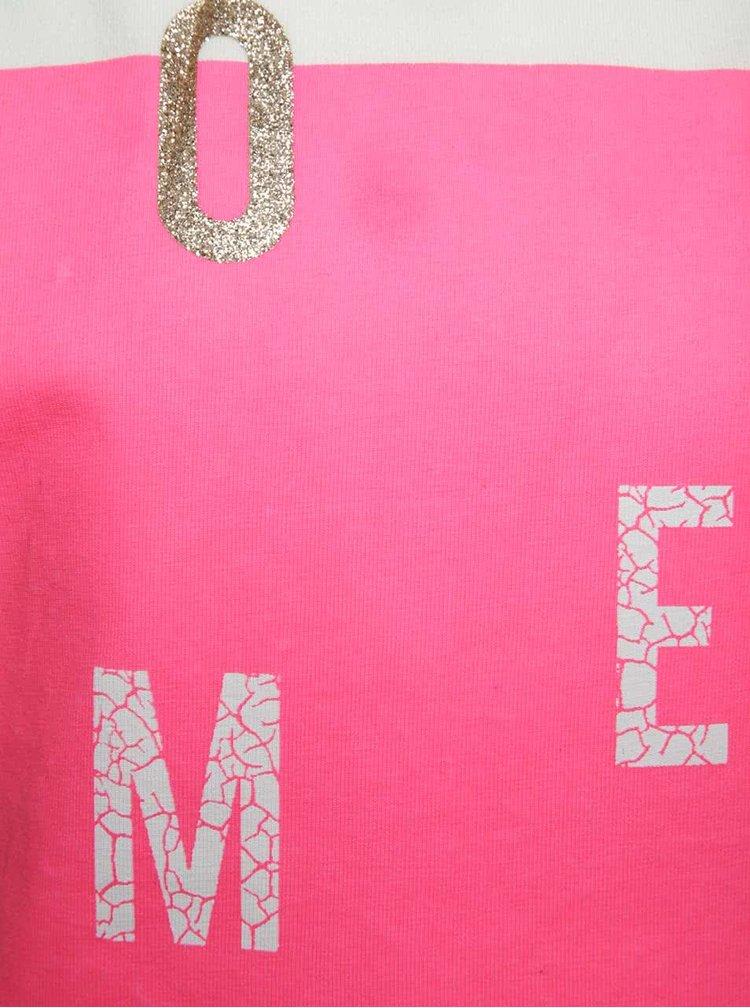 Krémové holčičí tričko s potiskem name it Boxy