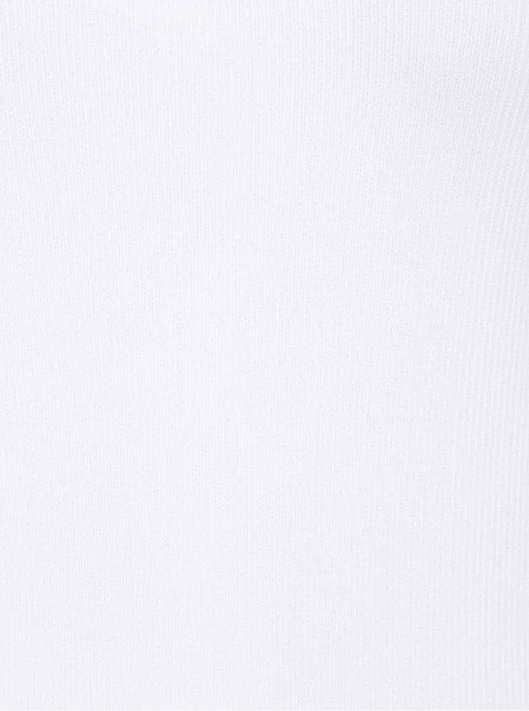 Bílé tílko s krajkovým lemem VERO MODA June
