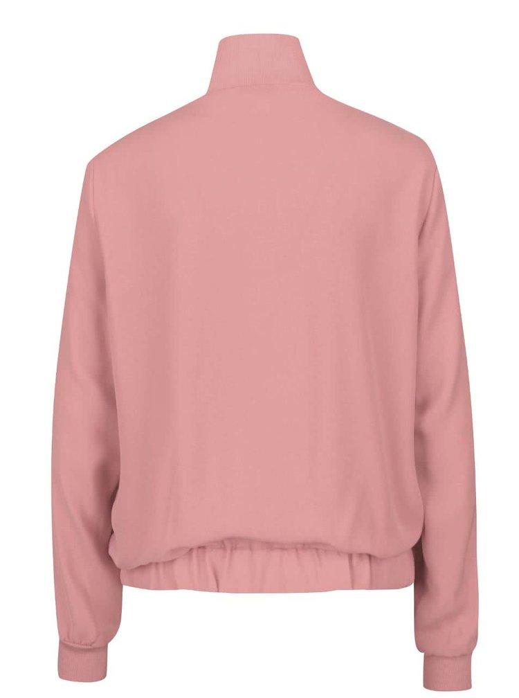 Jacheta cu guler inalt roz prafuit VERO MODA Sebastin