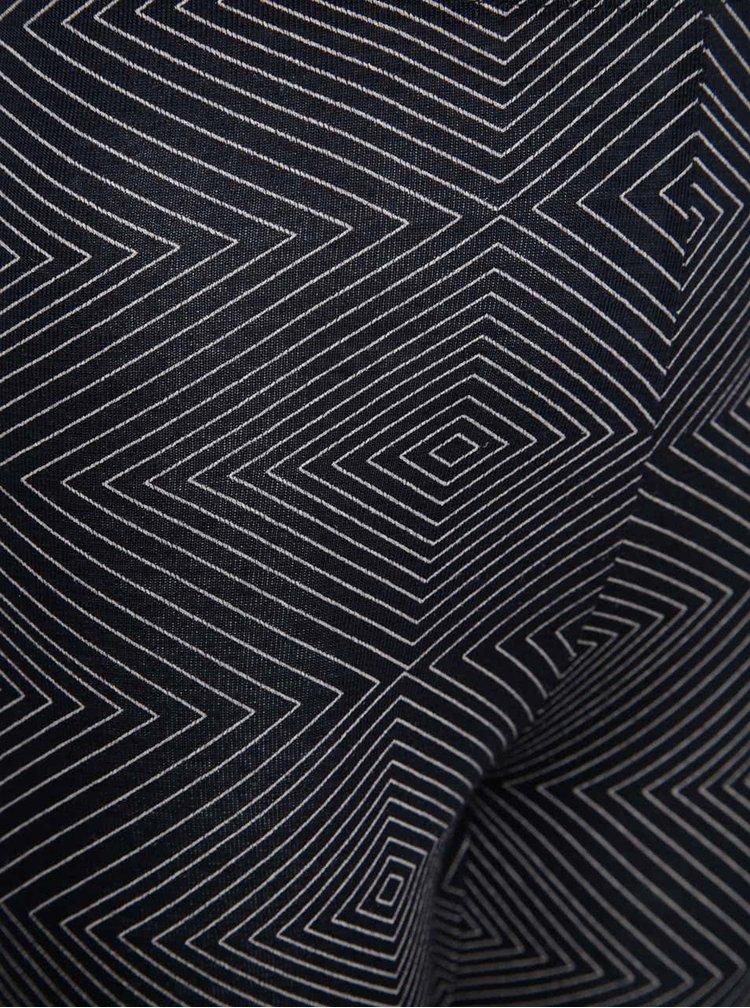 Tmavě modré holčičí legíny s geometrickým vzorem name it India