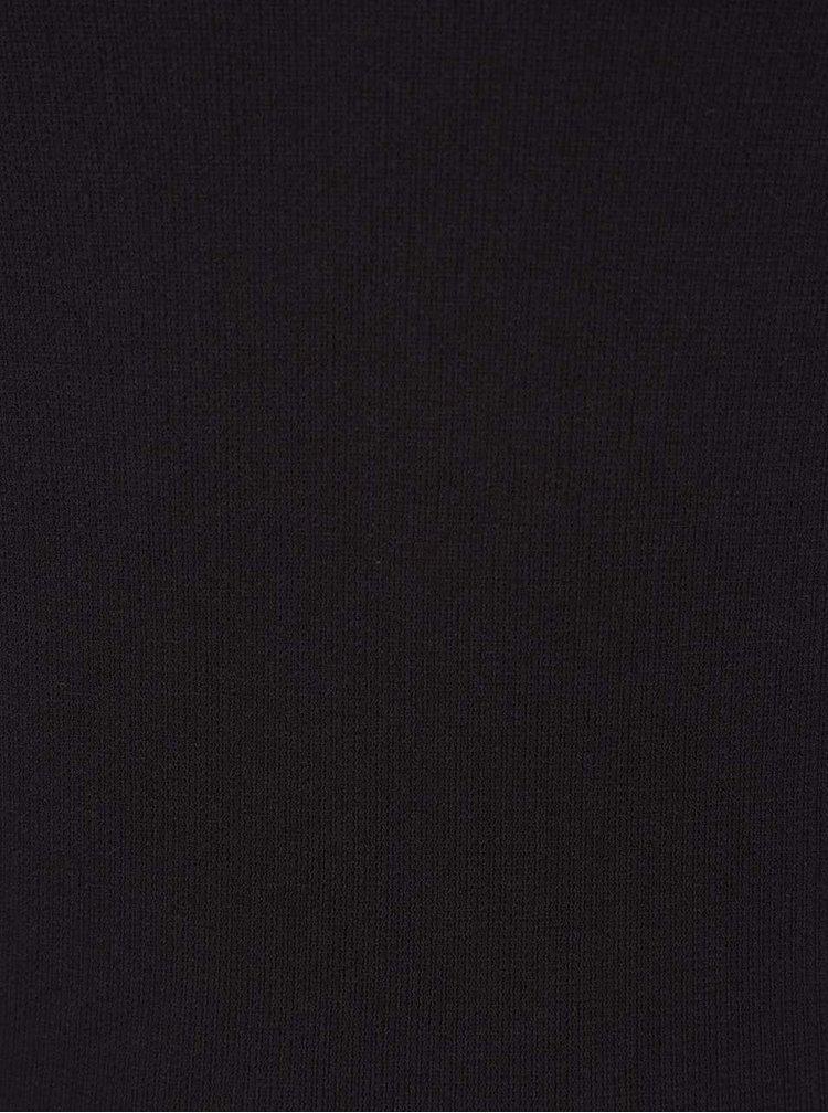 Černé tílko s krajkovým lemem VERO MODA June