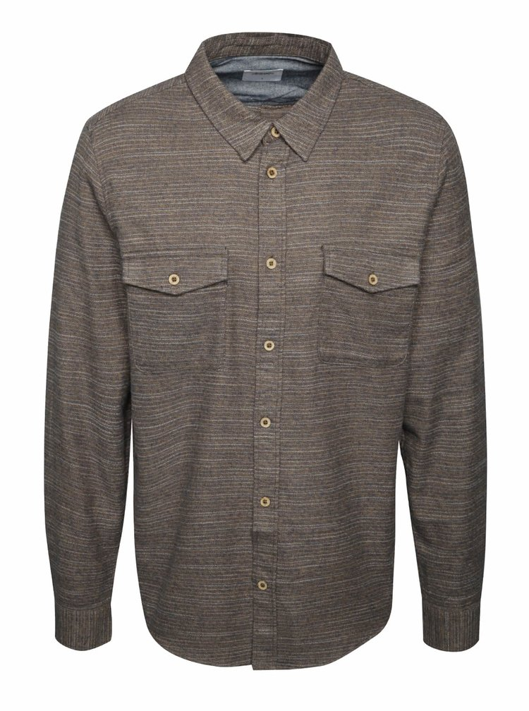 Hnědá pruhovaná košile Burton Menswear London