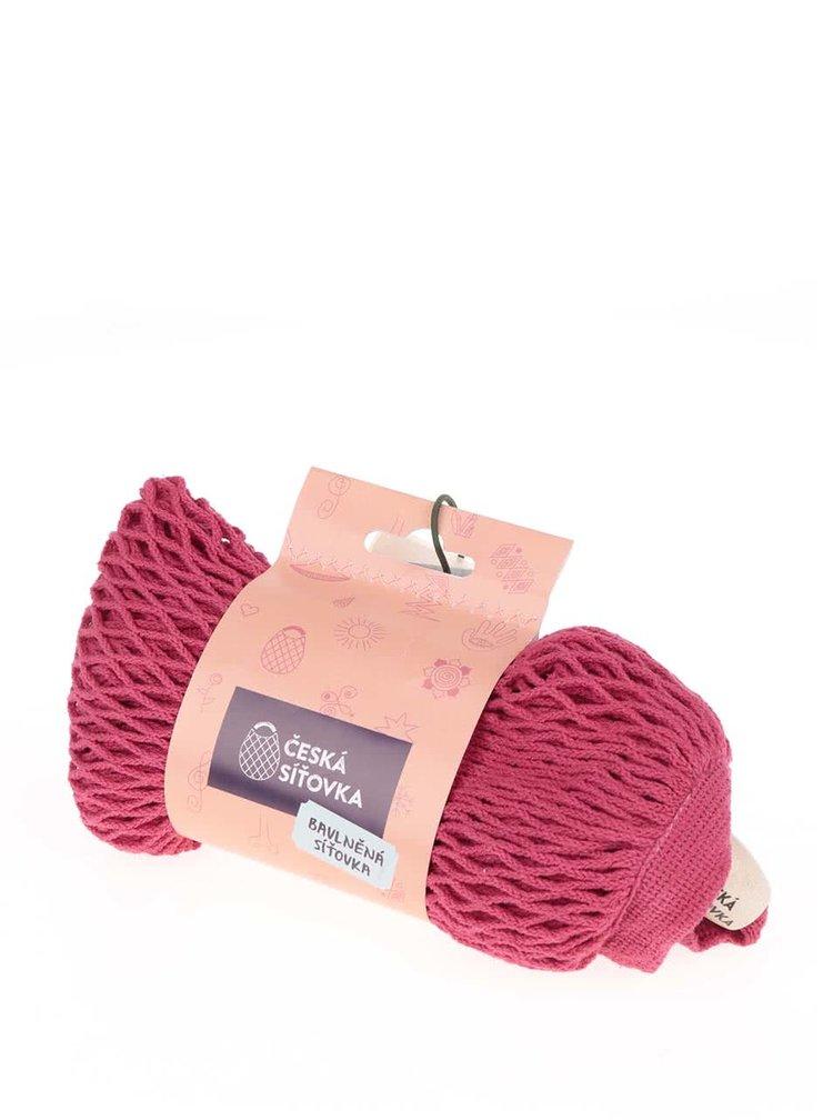 Plasă roz Česká cu perforații mici