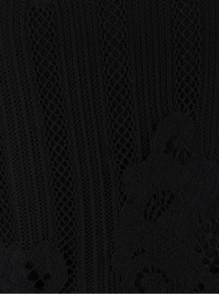 Top negru din dantelă Dorothy Perkins