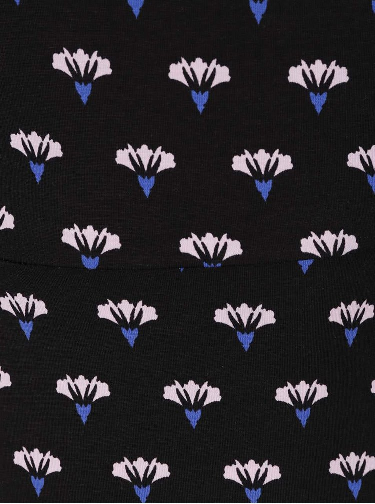 Čierne šaty s potlačou kvetín Dorothy Perkins Curve