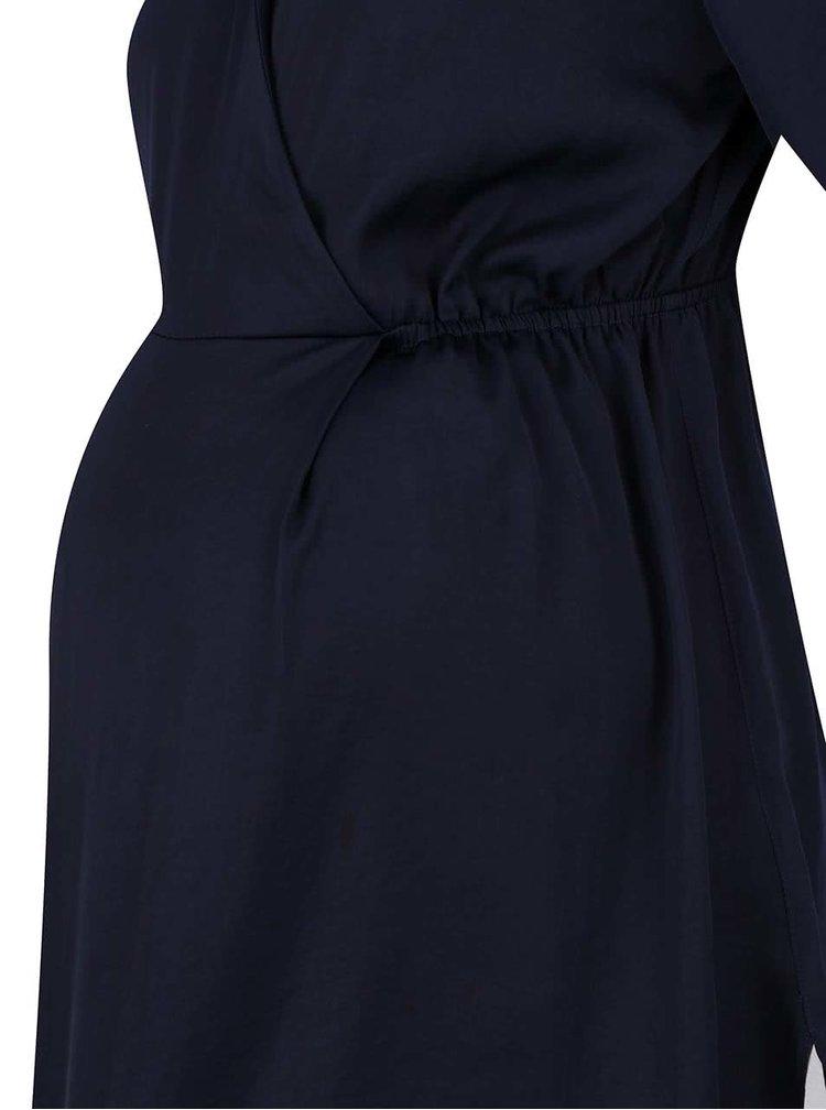 Tmavě modrá těhotenská tunika s 3/4 rukávy Dorothy Perkins Maternity