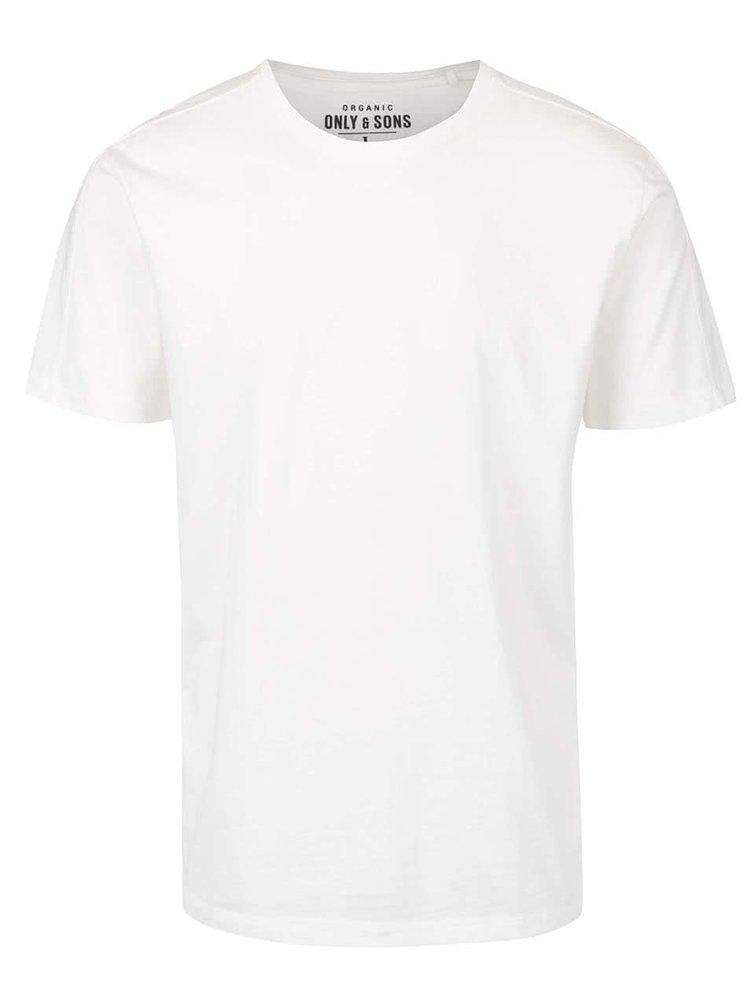 Krémové basic tričko ONLY & SONS Kanta