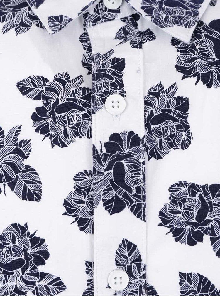 Bílá košile s květinovým vzorem ONLY & SONS Floro