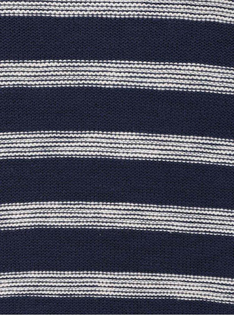 Krémovo-modrý pruhovaný svetr ONLY & SONS Aldin
