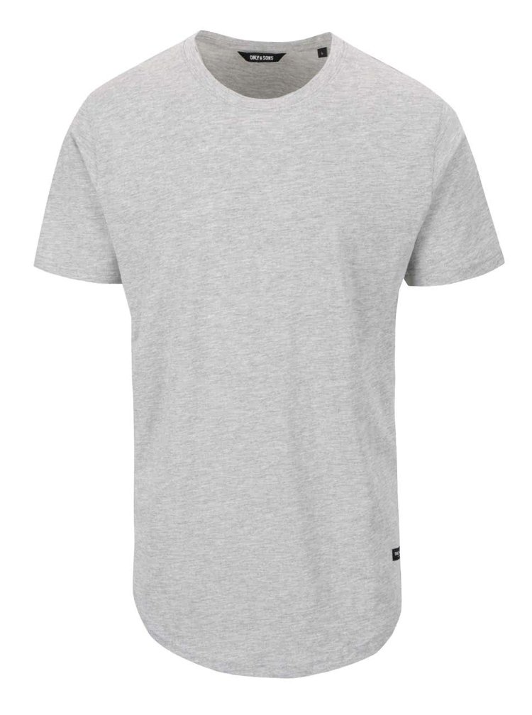 Šedé triko s krátkým rukávem ONLY & SONS Matt