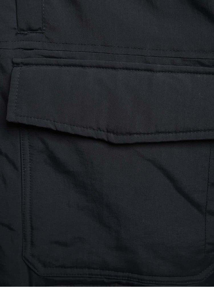 Tmavě modrá bunda s umělým kožíškem Burton Menswear London
