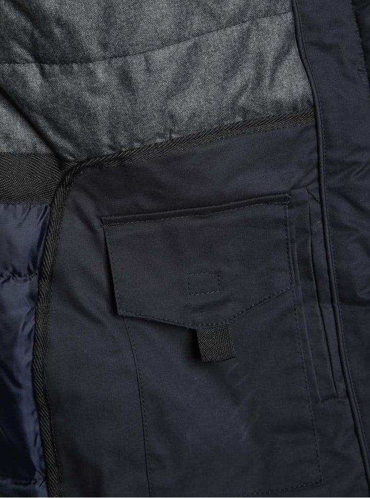 Geaca matlasata lunga bleumarin Burton Menswear London