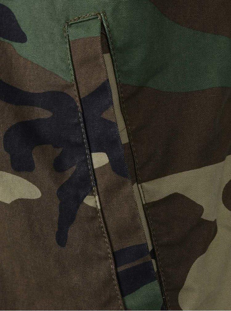 Hnědo-zelený maskáčový bomber ONLY & SONS Camo