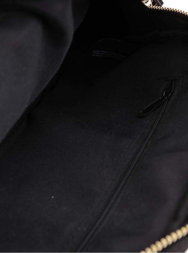 Černá prošívaná menší crossbody kabelka/psaníčko Dorothy Perkins