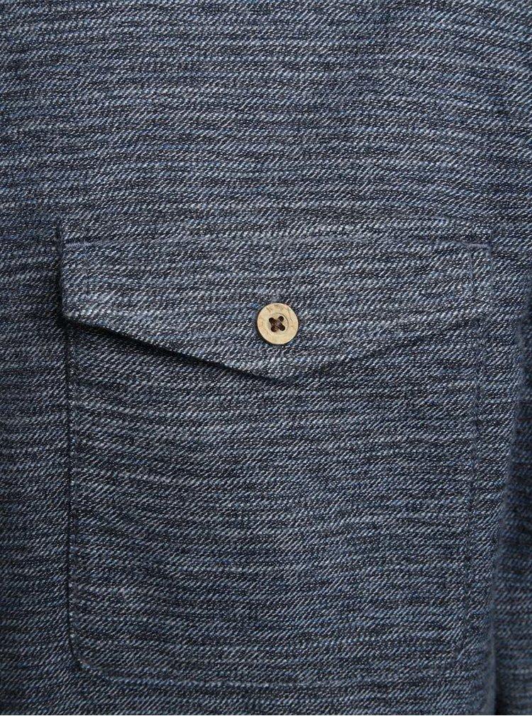 Šedo-modrá žíhaná neformální košile Burton Menswear London