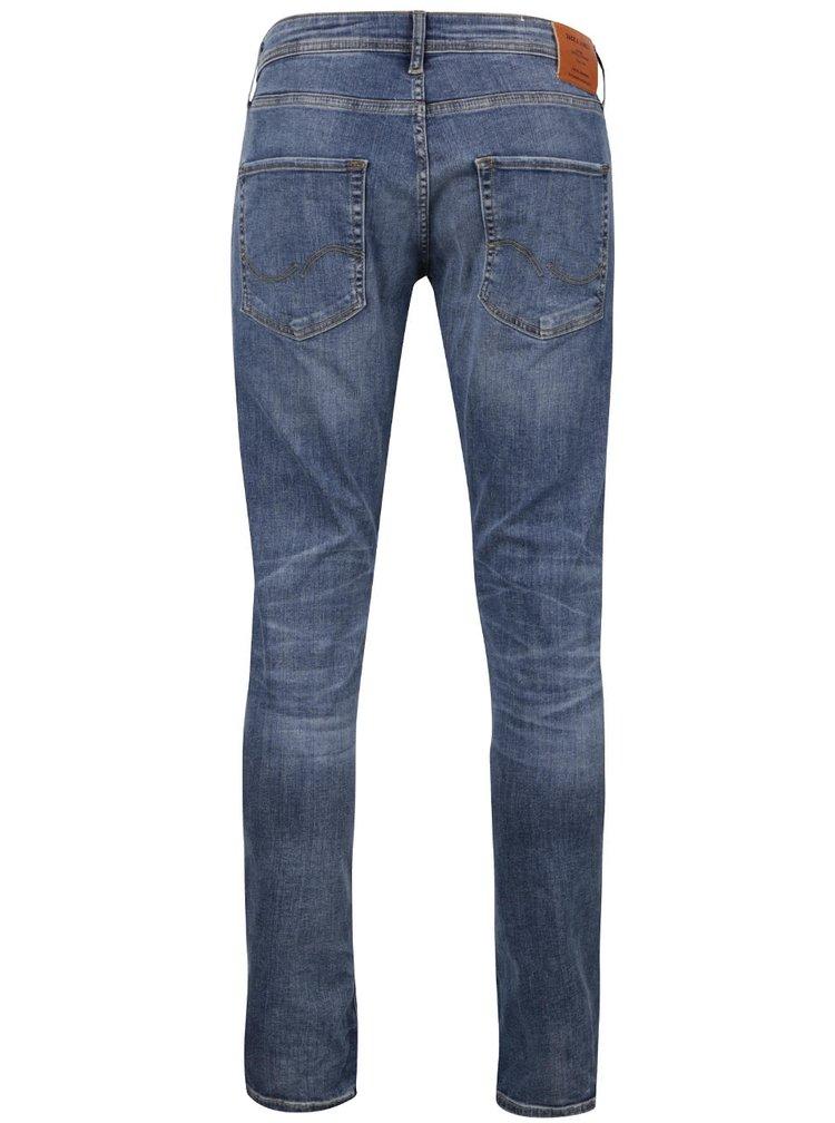 Světle modré vyšisované slim fit džíny Jack & Jones Glenn