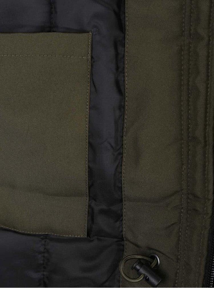 Khaki parka s kapsami a umělým kožíškem ONLY & SONS John