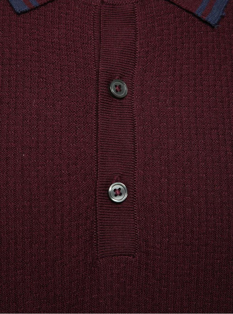 Tricou polo vișiniu Burton Menswear London din bumbac