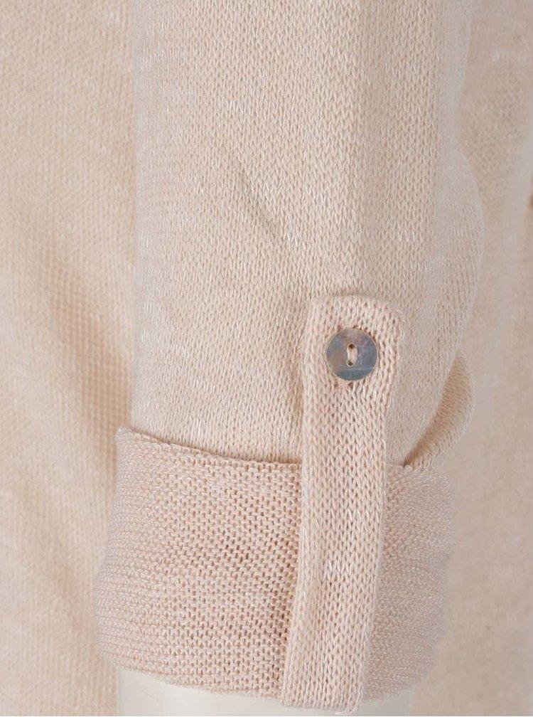 Bluză bej Haily´s Annie cu șireturi