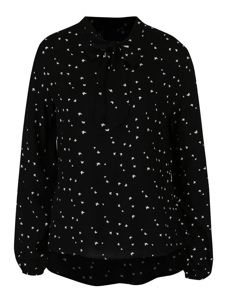 Bluza neagra Haily´s Valentina cu panglici