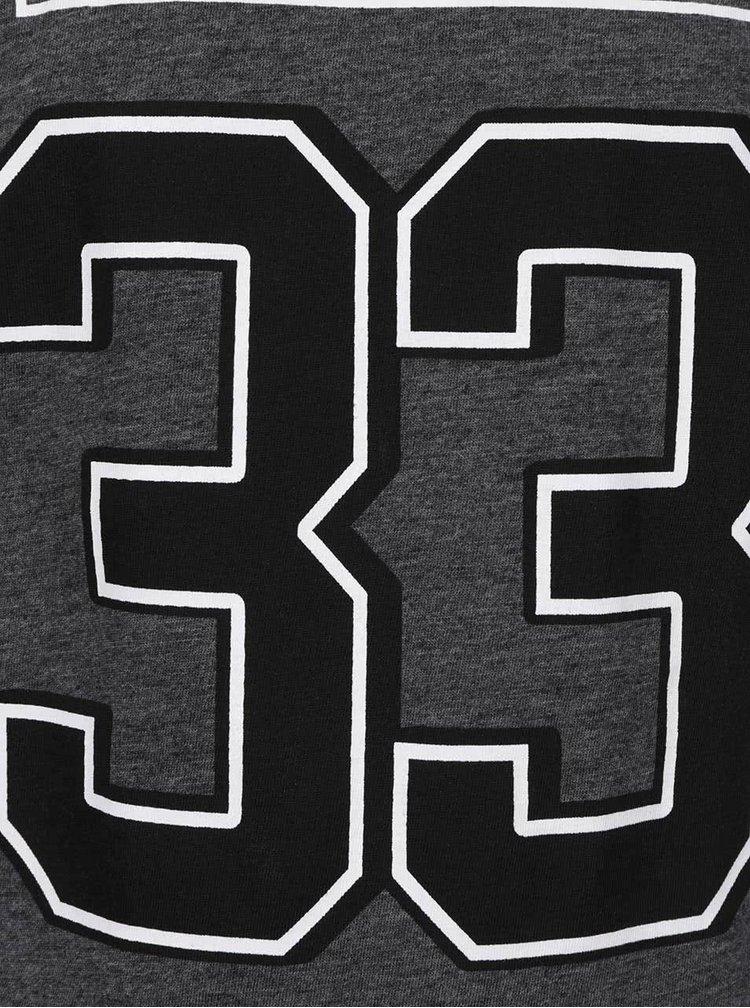 Tmavě šedé klučičí triko s dlouhým rukávem 5.10.15.