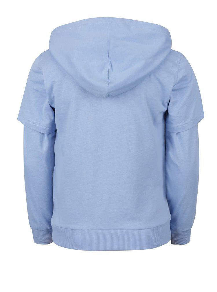 Světle modré klučičí triko s klokaní kapsou a kapucí 5.10.15.