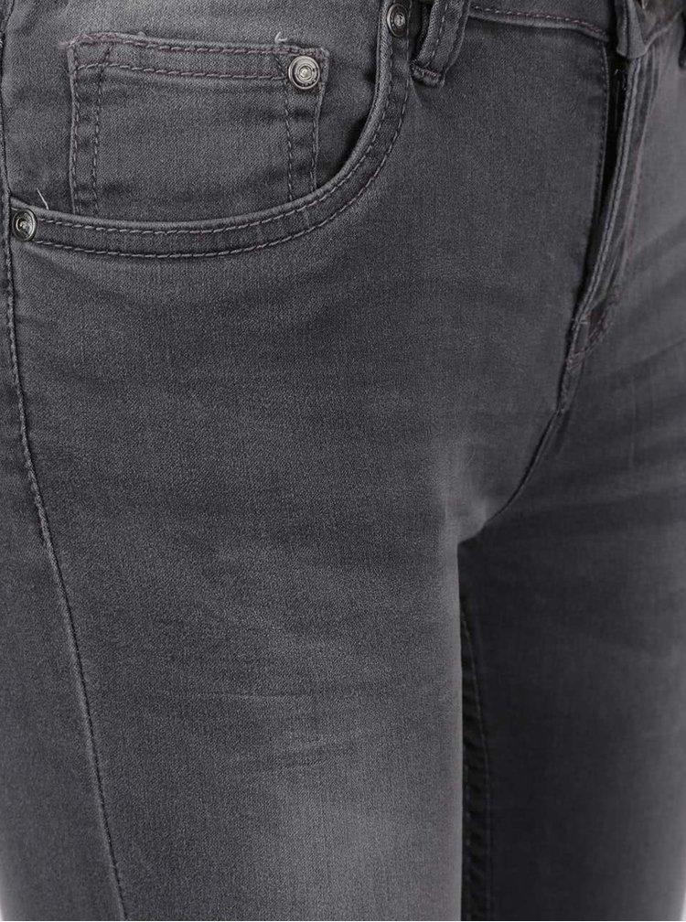 Jeanși skinny gri deschis cu aspect prespălat Cars Tyra
