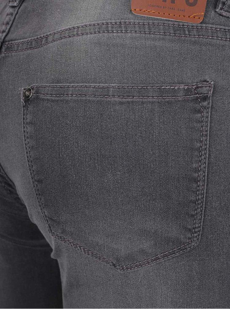 Jeansi skinny gri deschis cu aspect prespalat Cars Tyra