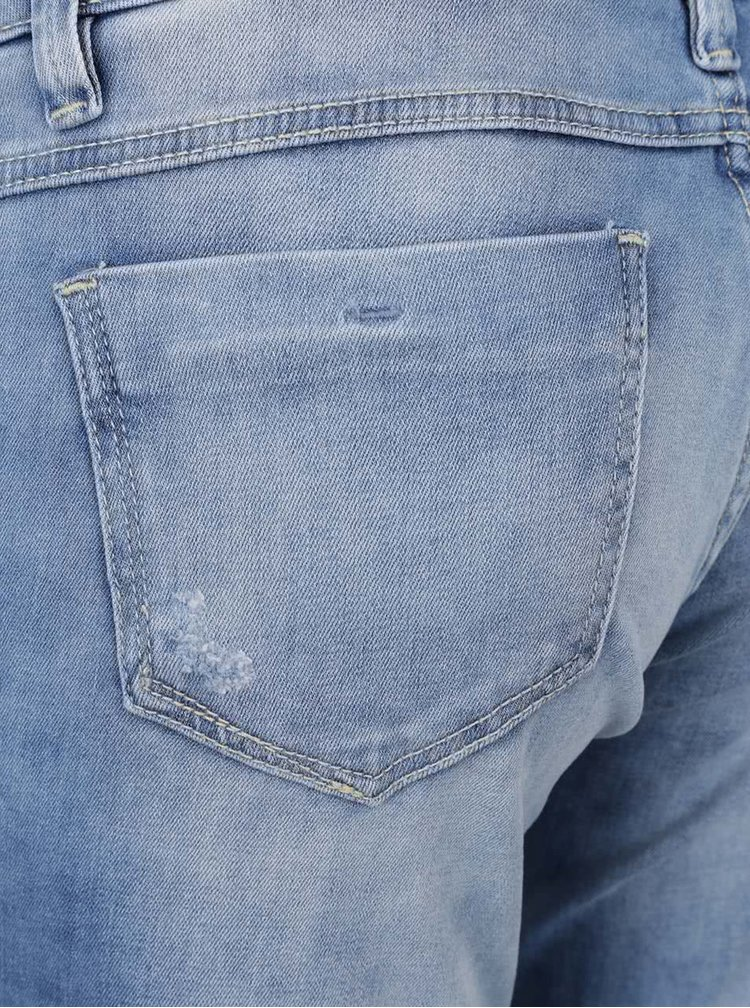 Jeansi skinny albastru deschis Cars Gaby cu aspect prespalat