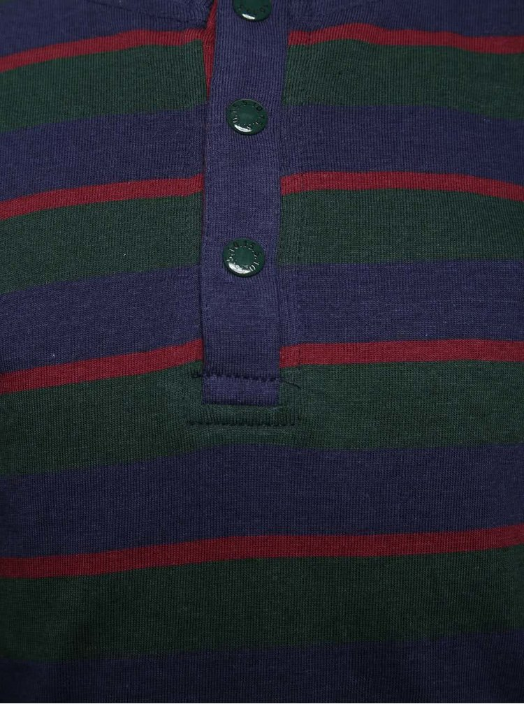 Modro-zelené pruhované triko 5.10.15.