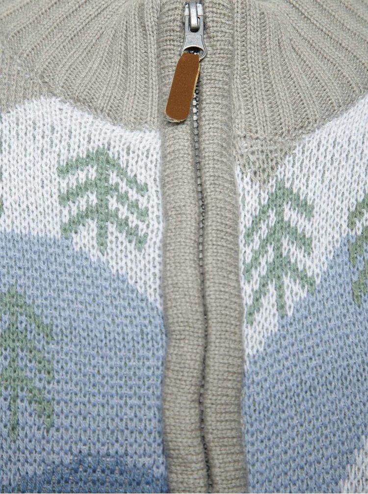 Šedý klučičí svetr na zip s motivem ledních medvědů 5.10.15.