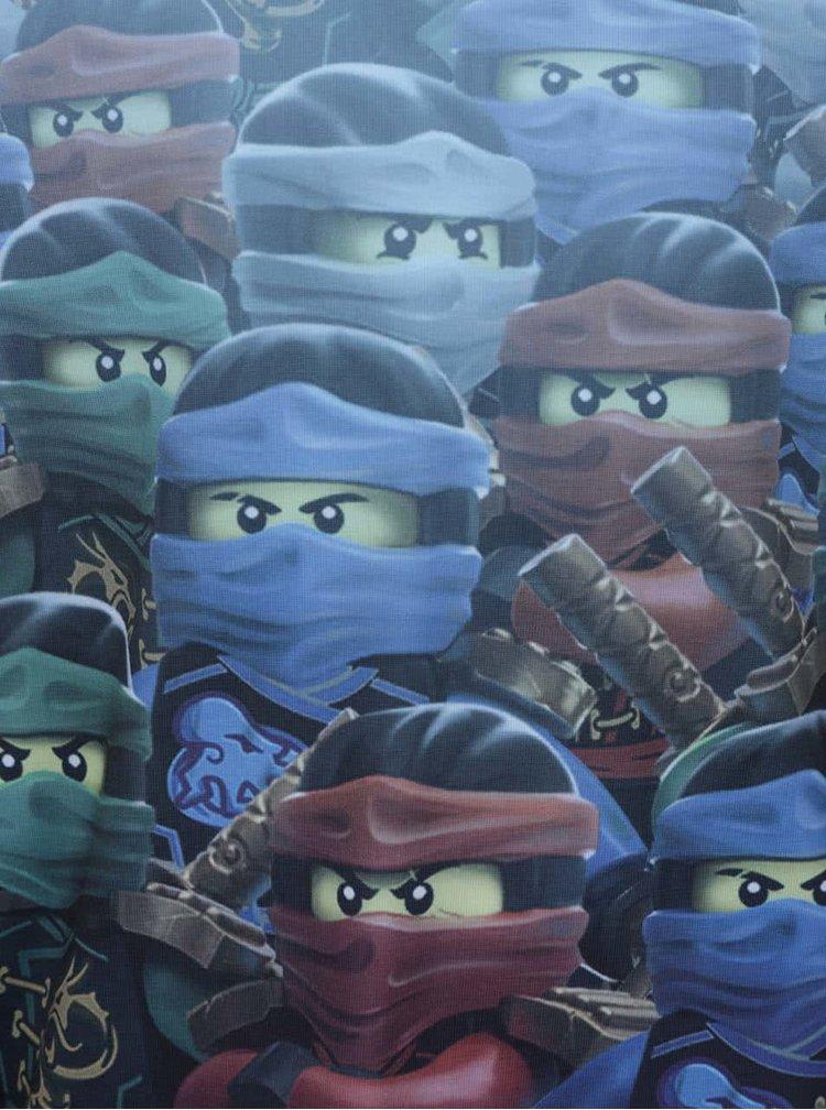 Tmavě modré klučičí triko s dlouhým rukávem a potiskem LEGO Wear Teo