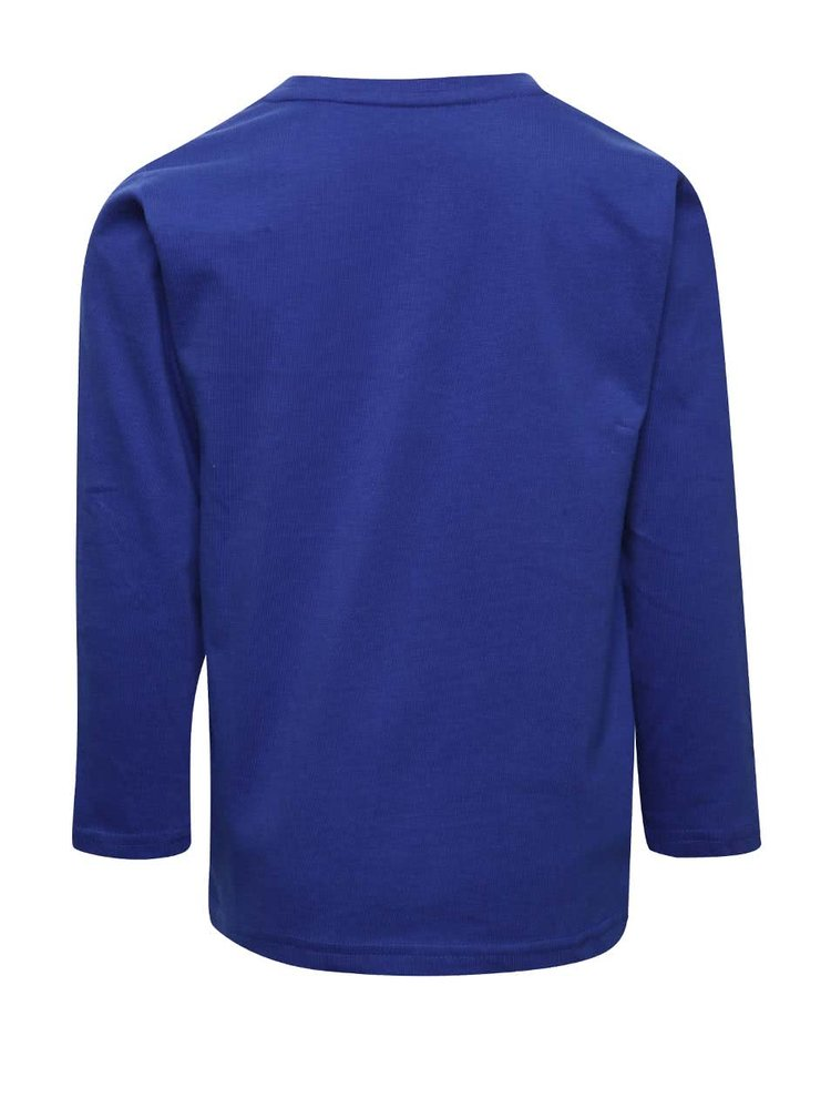 Bluză albastră 5.10.15. din bumbac cu print