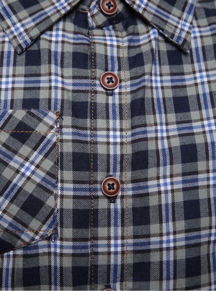 Modrošedá kostkovaná klučičí košile s kapsičkou 5.10.15.