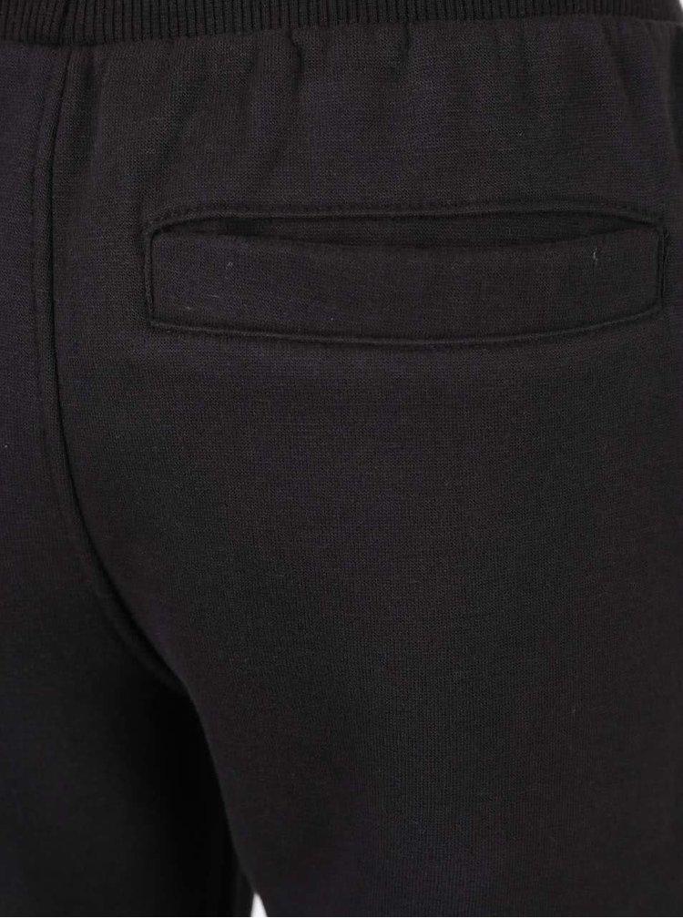 Pantaloni sport negri 5.10.15. cu detalii pe genunchi pentru băieți