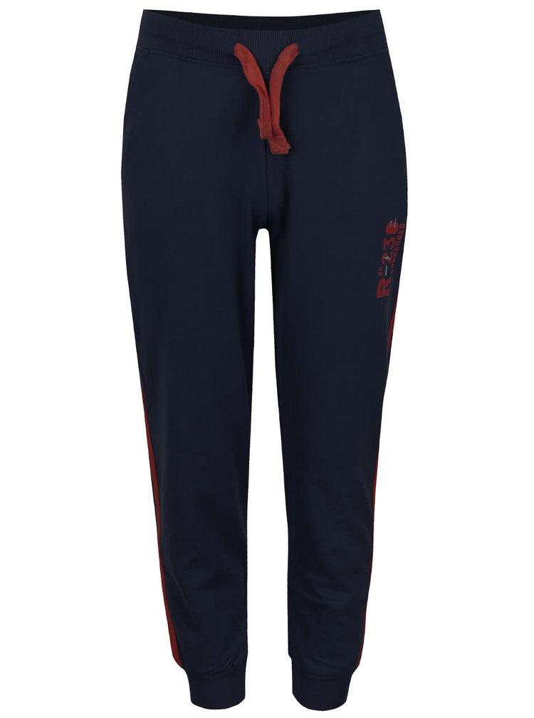Pantaloni sport bleumarin 5.10.15. cu detalii roșu burgundy pentru băieți