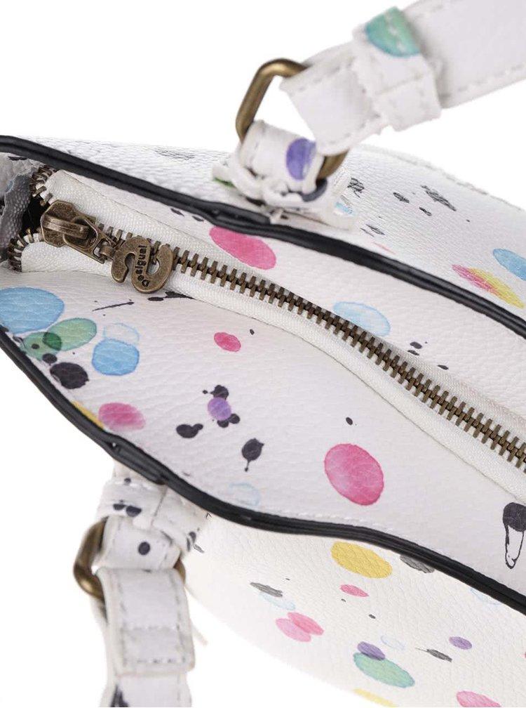 Krémová menší kabelka s barevnými puntíky Desigual Rotterdam Mini New Splatt