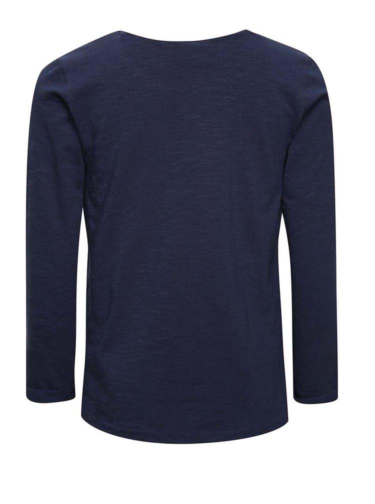 Tmavě modré holčičí tričko s motivem vlka 5.10.15.