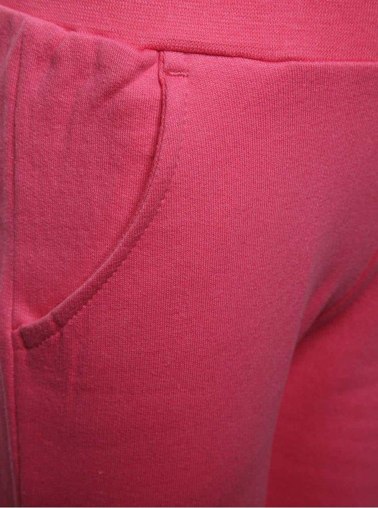 Růžové holčičí tepláky s potiskem 5.10.15.
