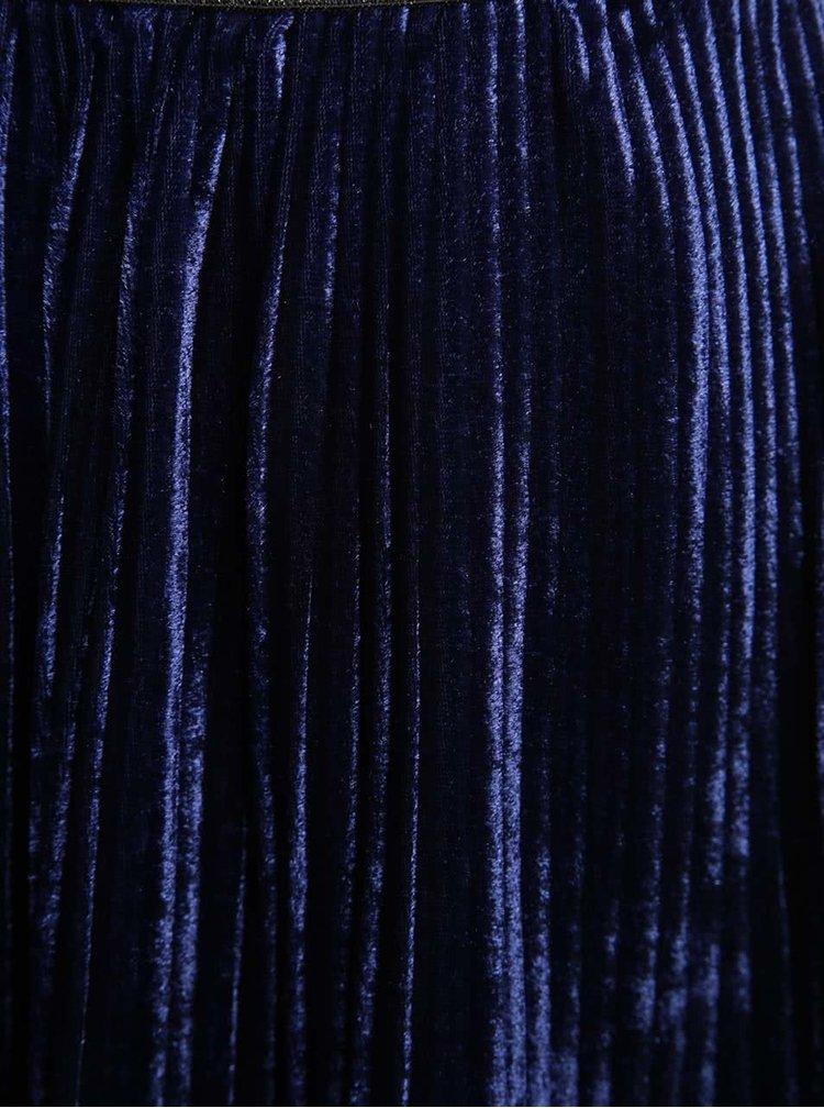 Tmavě modrá sametová plisovaná holčičí sukně 5.10.15.