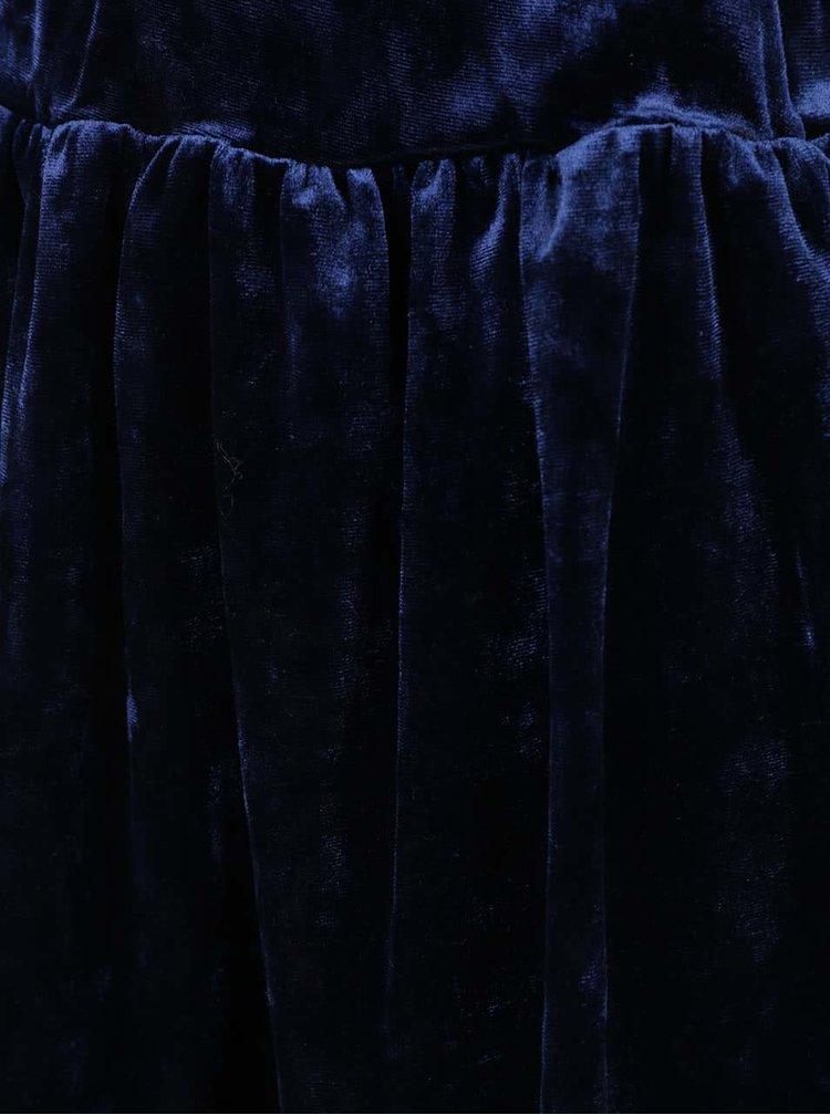 Fustă albastru închis 5.10.15. din catifea