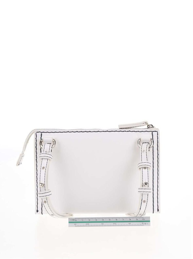 Krémová crossbody kabelka French Connection Stabstitch