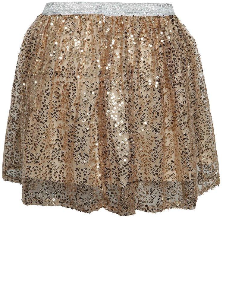 Holčičí flitrovaná sukně ve zlaté barvě 5.10.15.