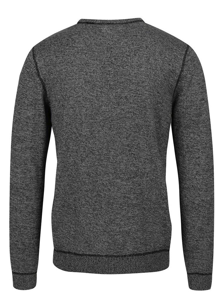 Černo-šedý žíhaný svetr Blend