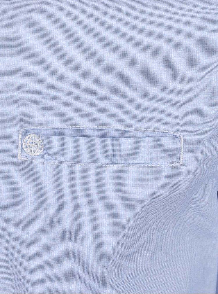 Světle modrá neformální košile s jemným vzorem Blend