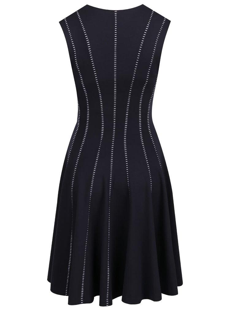 Tmavě modré šaty s ozdobnými pruhy French Connection Modern Kantha