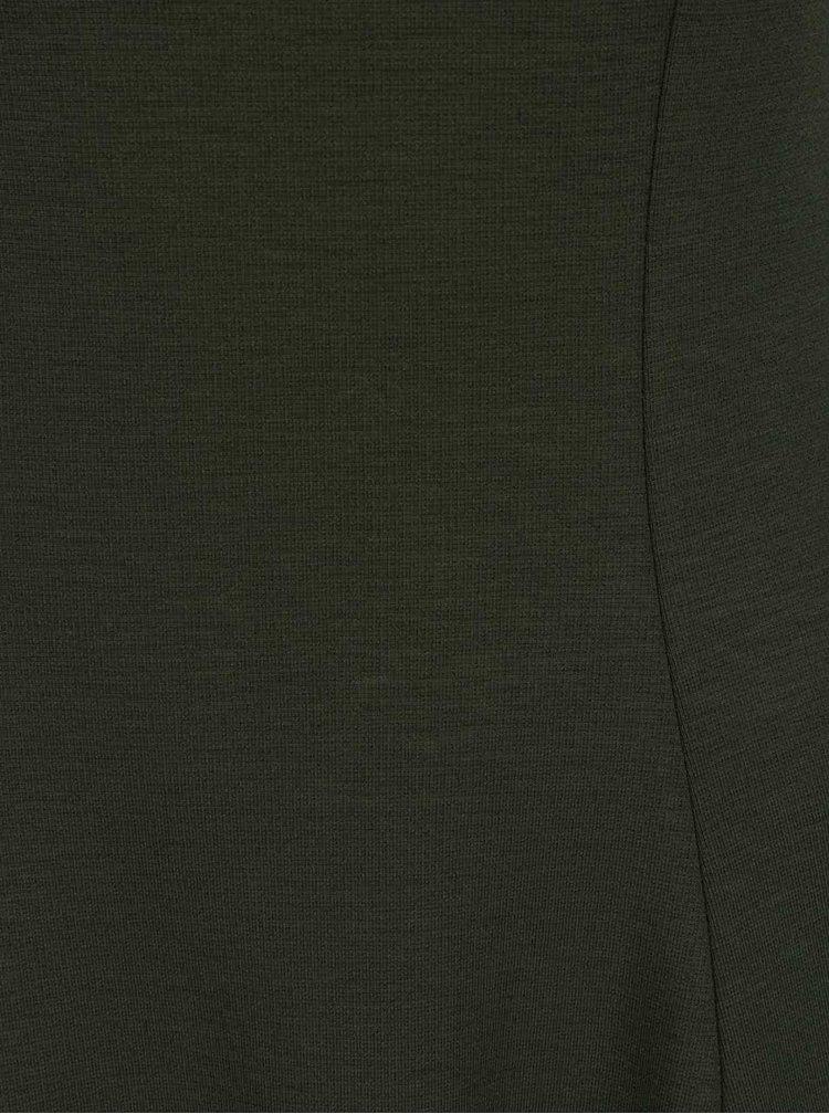 Khaki šaty French Connection Bottero
