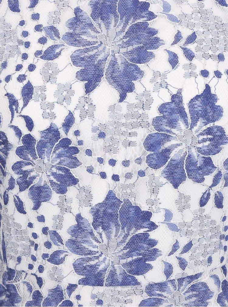 Modro-bílé krajkové šaty French Connection Antonia