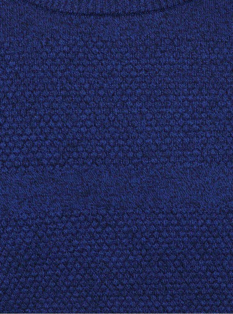 Tmavě modrý žíhaný svetr Selected Homme John