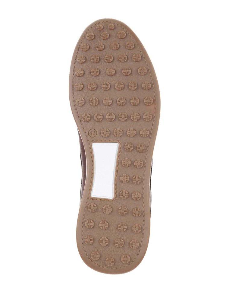 Pantofi sport maro închis Bullboxer din piele